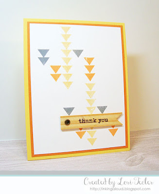 Triangle Thank You card-designed by Lori Tecler/Inking Aloud-stamps from WPlus9