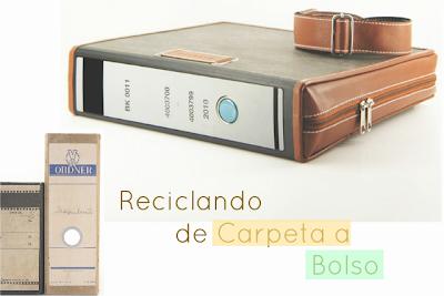 Invento Bolsos Reciclando Carpetas-Archivadoras