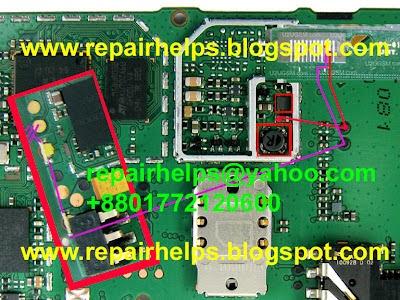 Mobile Phone Repairing Diagrams Images Video Tips Tricks Nokia 1202 Light Solution