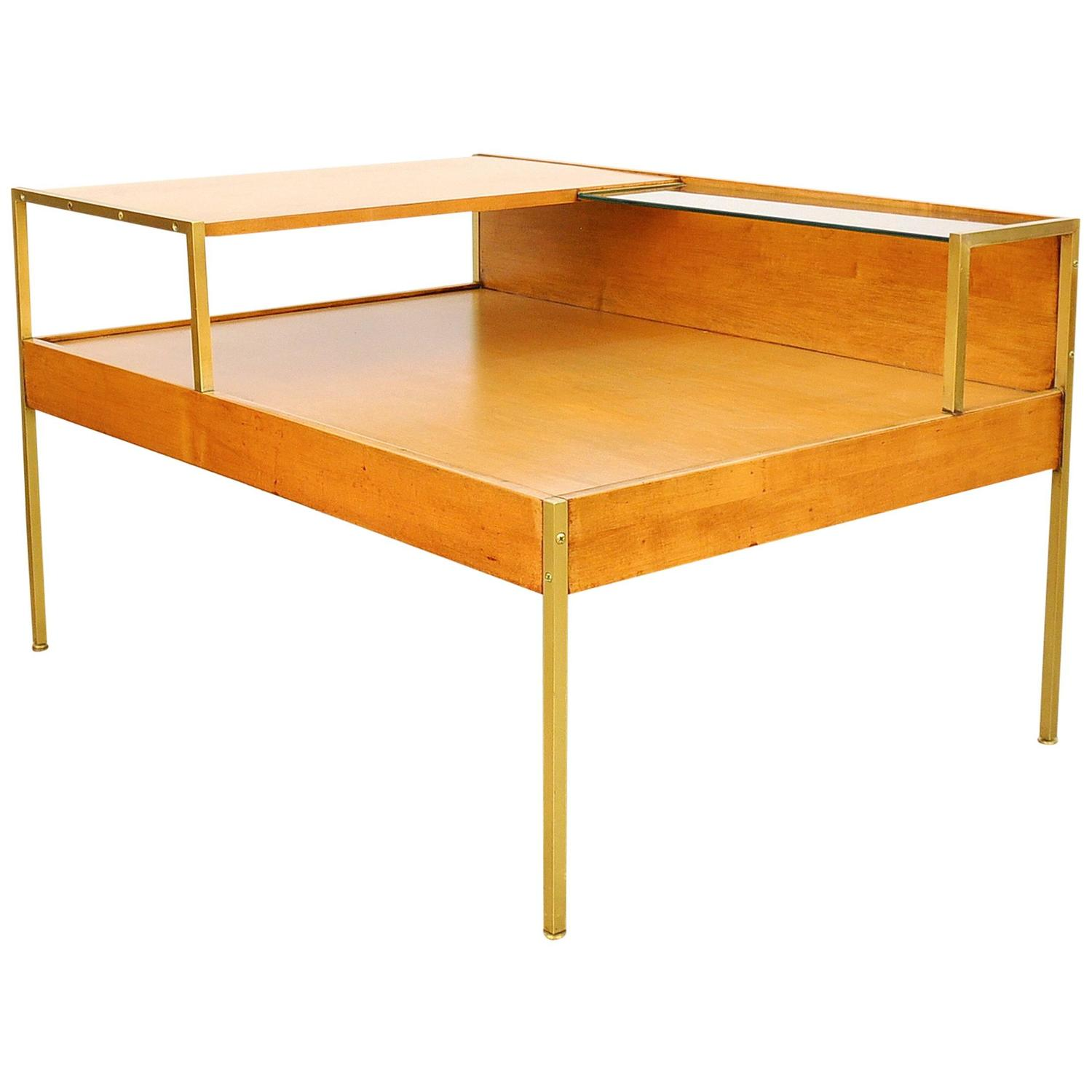 Select modern early milo baughman for murray furniture for Coffee table side
