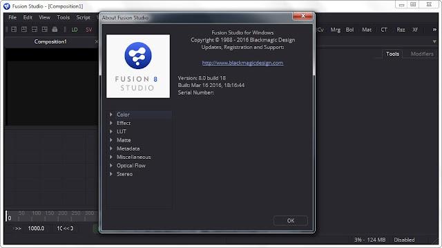 Blackmagic Design Fusion Studio 8.0 Build 18