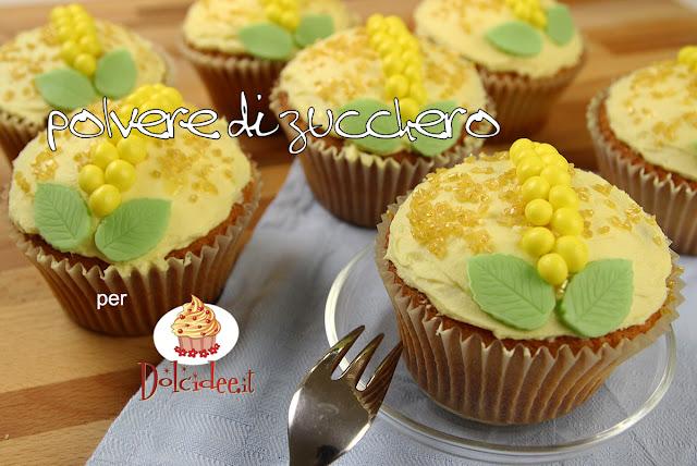cupcake mimosa festa della donna ricetta pasta di zucchero woman day cake design