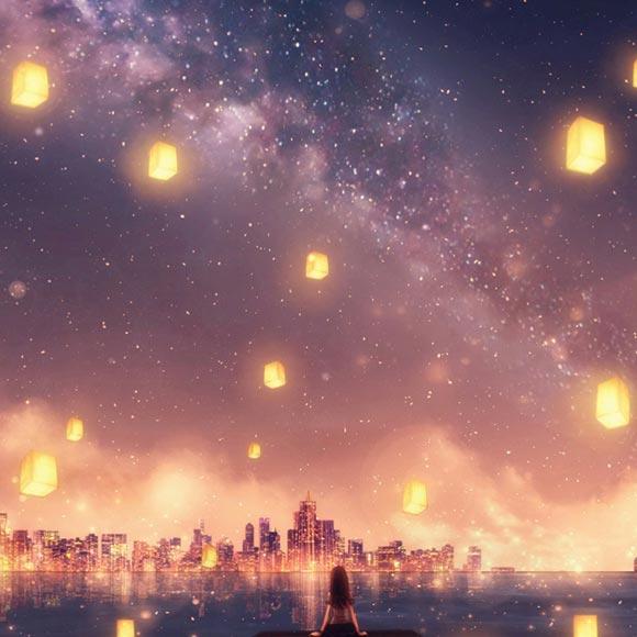 Starry Sky Anime Wallpaper Engine