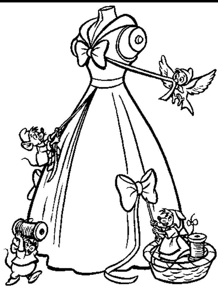desenhos para colorir da cinderela