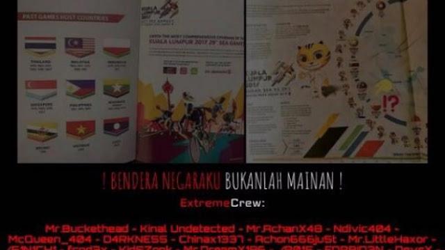 Bendera RI Terbalik, Hacker Indonesia Retas Puluhan Situs Malaysia, termasuk Situs Sea Games