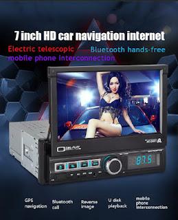1 DIN AUTORADIO MP5 BLUETOOTH GPS 7110GM