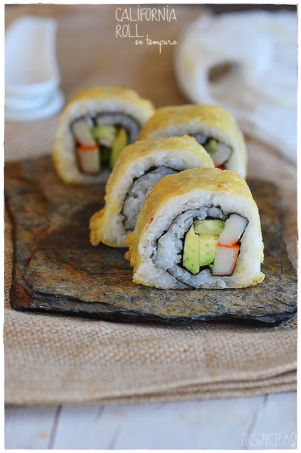 California roll en tempura