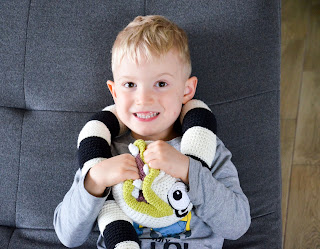 Krawka: Nightmare the creepy cute Halloween snake crochet pattern by Krawka -Beetlejuice sandworm inspired,