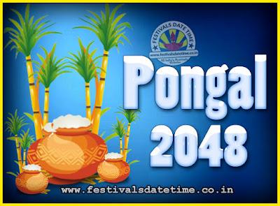 2048 Pongal Festival Date & Time, 2048 Thai Pongal Calendar