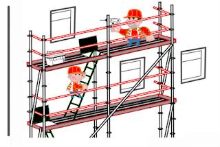 échafaudage chantier travaux
