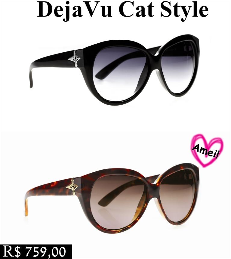 7452235cec541 ... óculos de gatinho de volta! Preciso dizer que amei ! Este modelo está  disponível nas cores black ou turtle e com lentes degradê ou inteiras