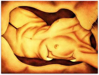 Loide Schwambach - Série Corpos - Deitada e Dissecada