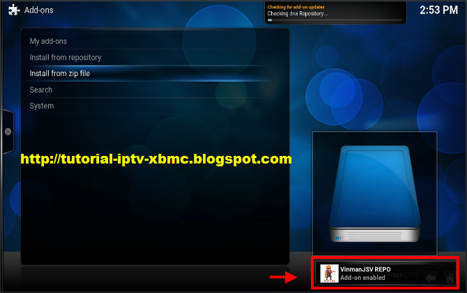 how to add another section in kodi