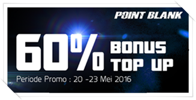 Event Top Up PB Garena - Bonus Isi Cash 60%