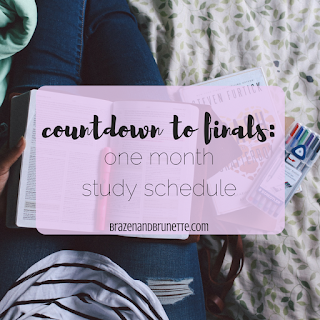 6 things to do a month before your finals to help you study | brazenandbrunette.com