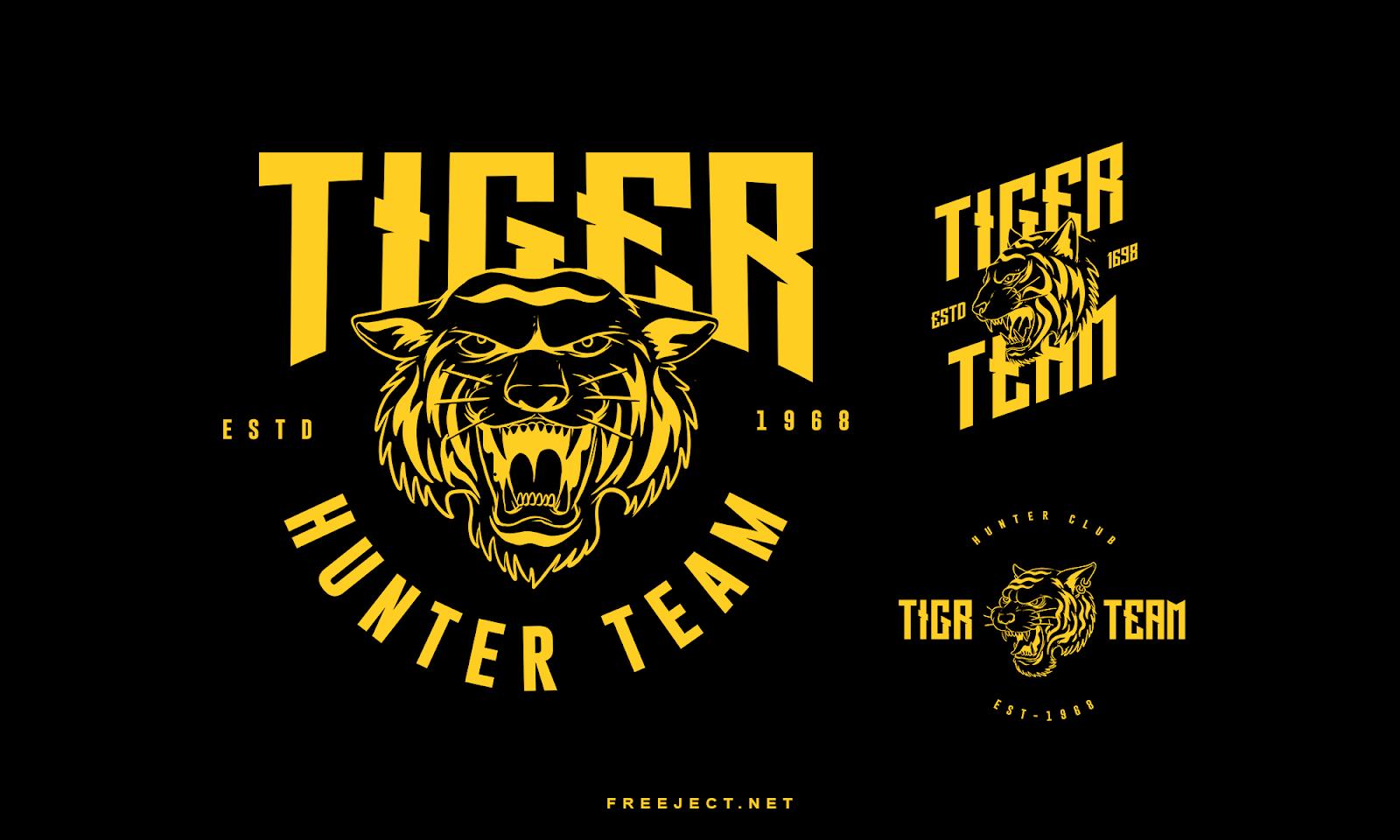 Free Download Tiger Badge Logo Photoshop Template Vol 2 Psd File