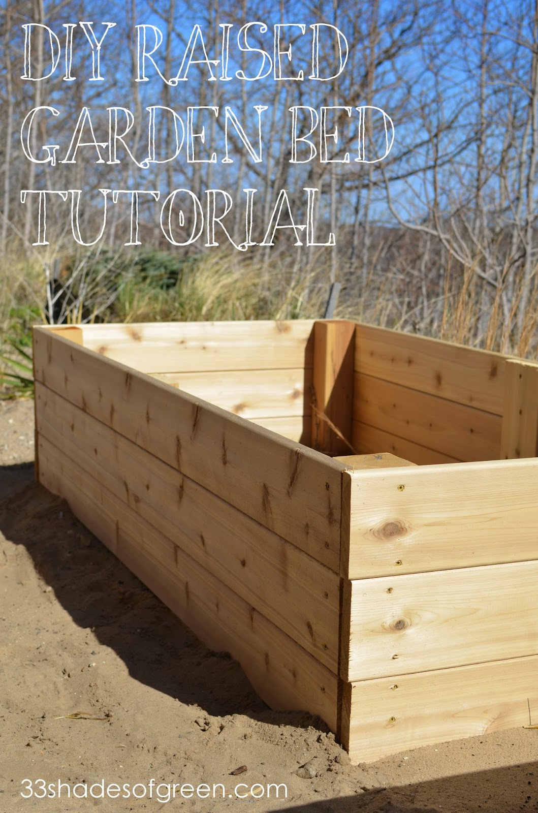 Instructions For Making Raised Garden Beds Easy Diy Raised Garden Bed Tutorial 33 Shades Of Green