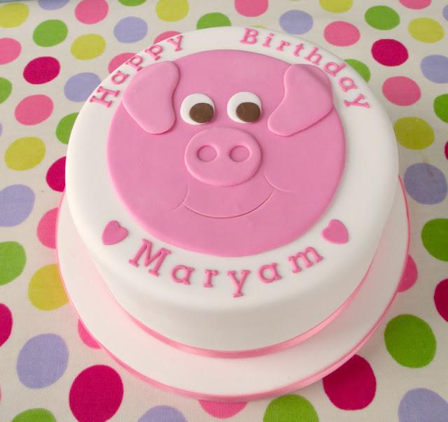Bánh kem con heo, bánh sinh nhật hình con heo dễ thương