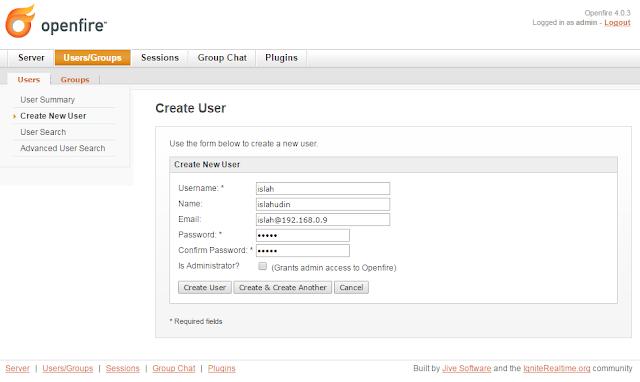 Membuat Server Jabber Sendiri dengan Ubuntu Server dan Openfire