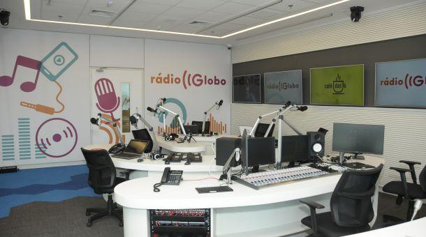 No mesmo andar da CBN vai funcionar a Rádio Globo, que também terá estúdio interativo com câmeras em HD. (Foto: Sylvia Gosztonyi / Divulgação)