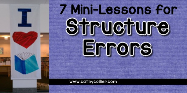 I have previously blogged about meaning errors and visual errors. This is the last in the a series: structure errors. Structure errors are all about the structure of the sentence and understanding the English language.