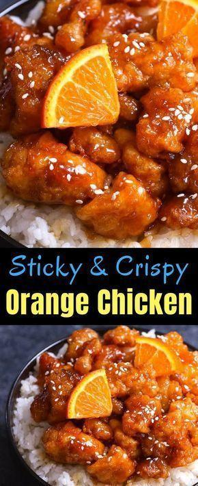Sticky and Crispy Orange Chicken