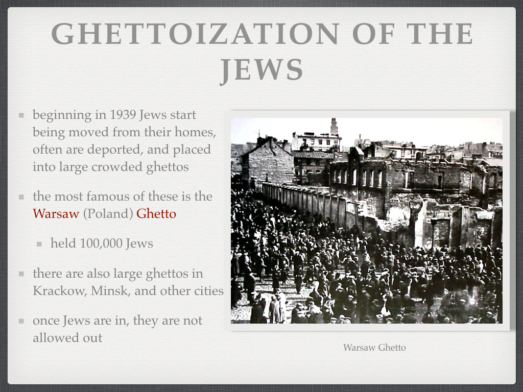 Ms. Murphy's Modern European History Class: The Holocaust