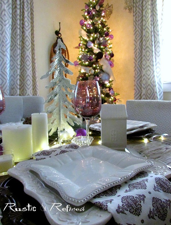 Decorating the Dining Table and Dining Room for the Holidays with classic timeless and vintage appeal
