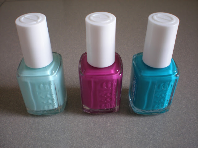 Essie Nail polishes from Left to Right: Blossom dandy, Flowerista, Garden Variety