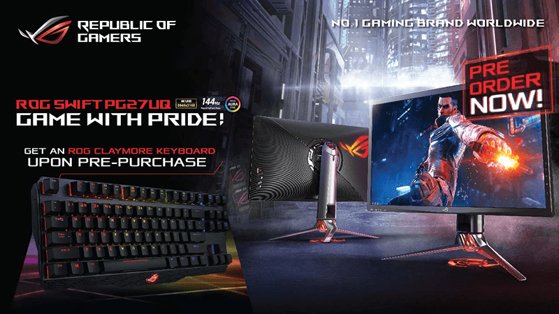 ASUS ROG Swift PG27UQ gaming monitor now on pre-order in the Philippines