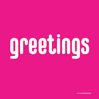 Pink white Greetings Text image