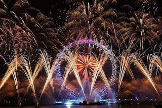 London Eye Fireworks for New Years. From traveljee.com