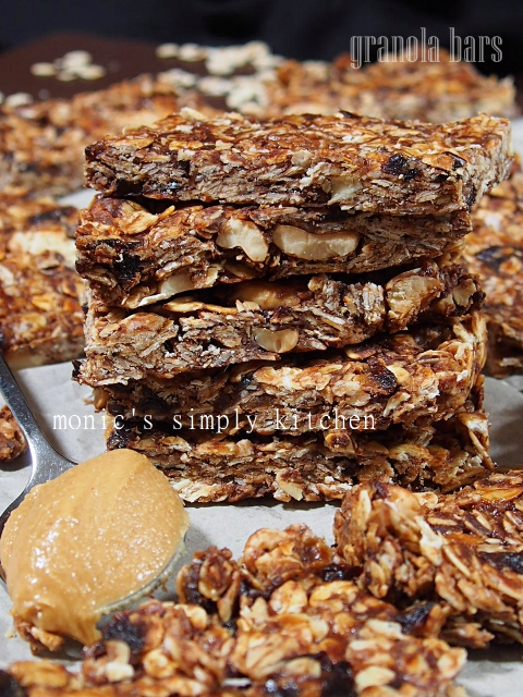 resep granola bars unbaked