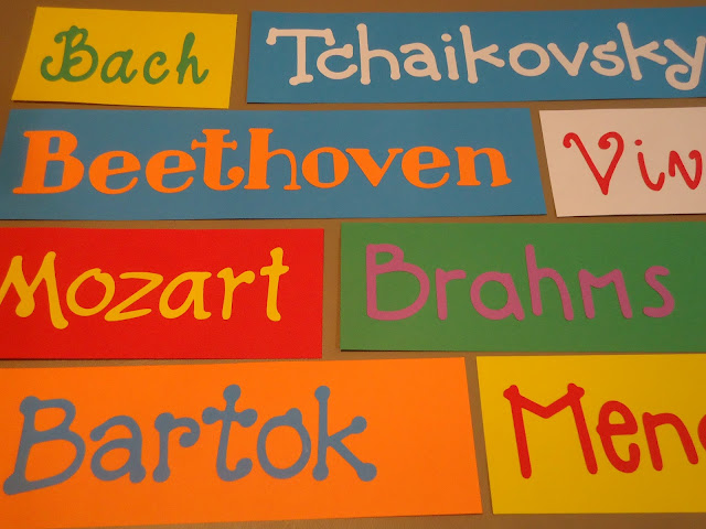 Now playing music by--magnetic signs for orchestra classroom listening