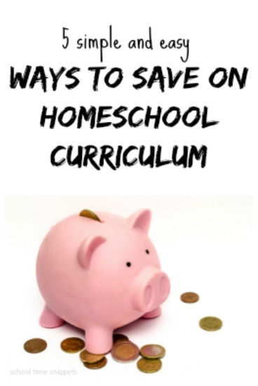 how to save on homeschool curriculum