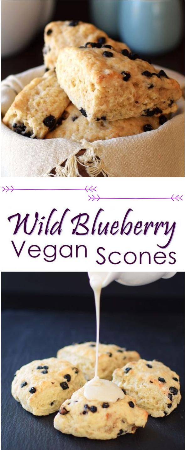 Vegan Wild Blueberry Scones #vegan #blueberry