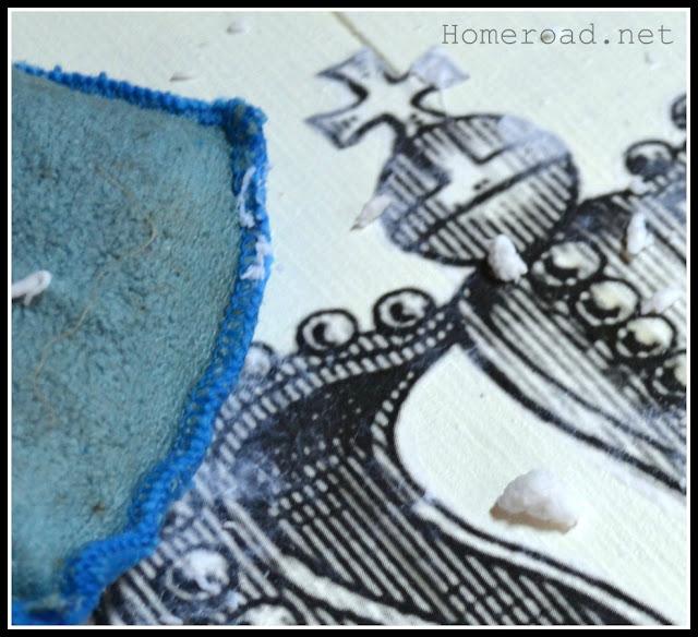 rubbing off crown stencil