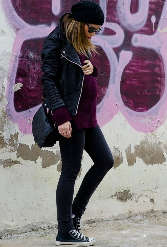 Cool pregnancy style - maternity jeans