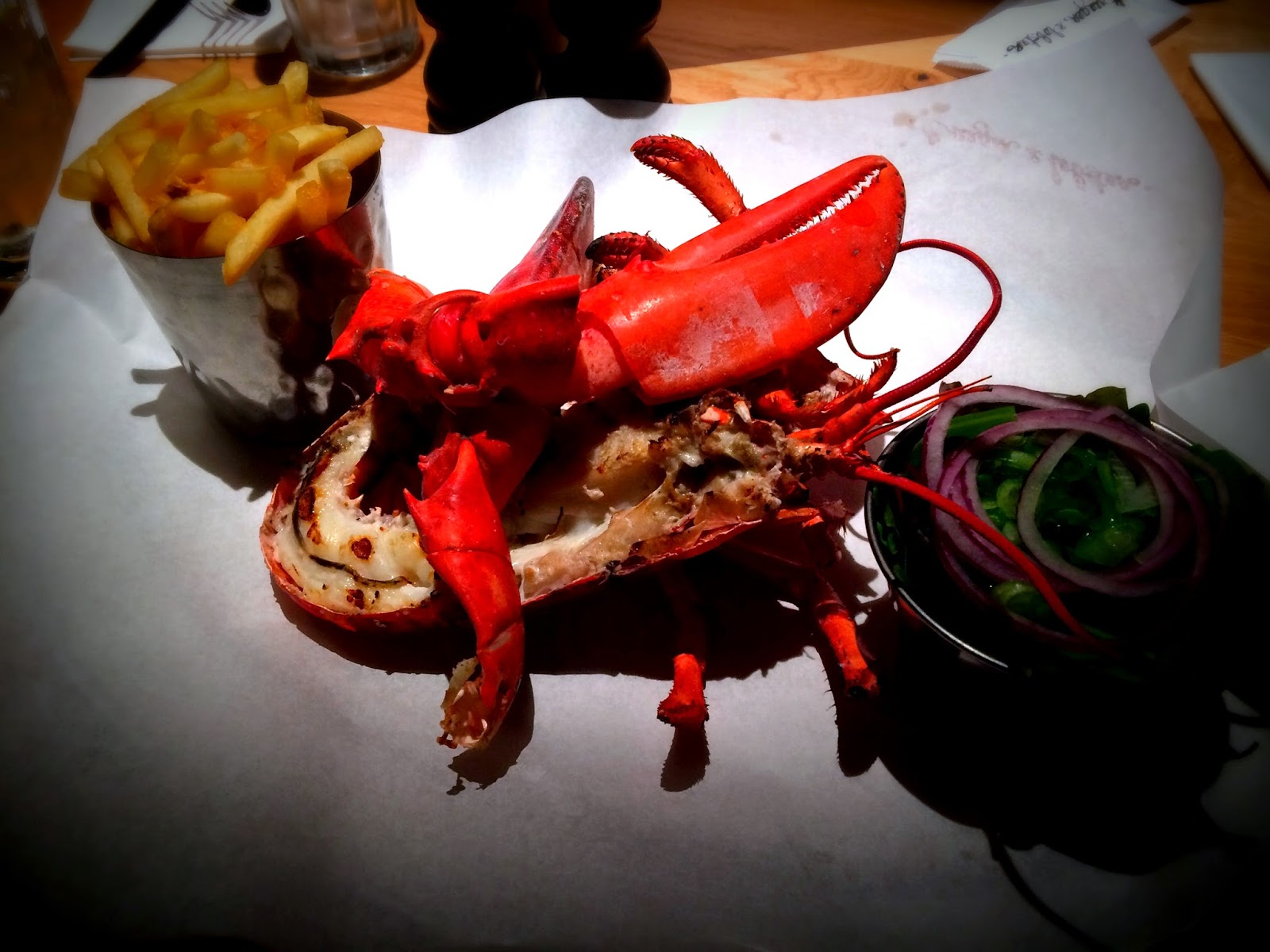 Grilled Lobster at Burger & Lobster, Burger & Lobster Cardiff, St Davids II, Restaurants in Cardiff, Seafood in Cardiff
