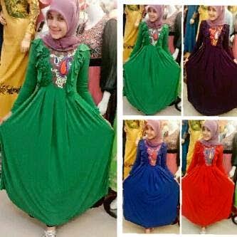 Pilihan terbaru baju gamis muslim simpel dan modis  235d2f47d5