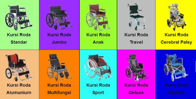 kursi roda - berbagai macam jenis