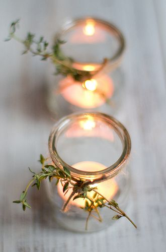image result for clear jars candles thyme farmhouse