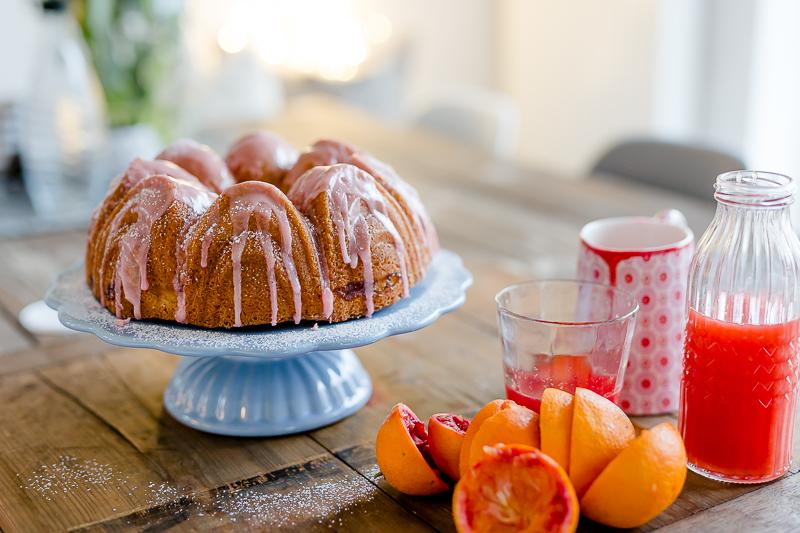 Blutorangengugl mit Vanille und Frucht, Pomponetti, Rührkuchenrezept