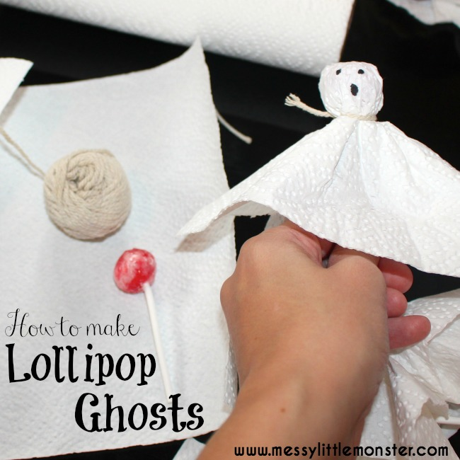 Easy Halloween Treats for Kids - ghost lollipop