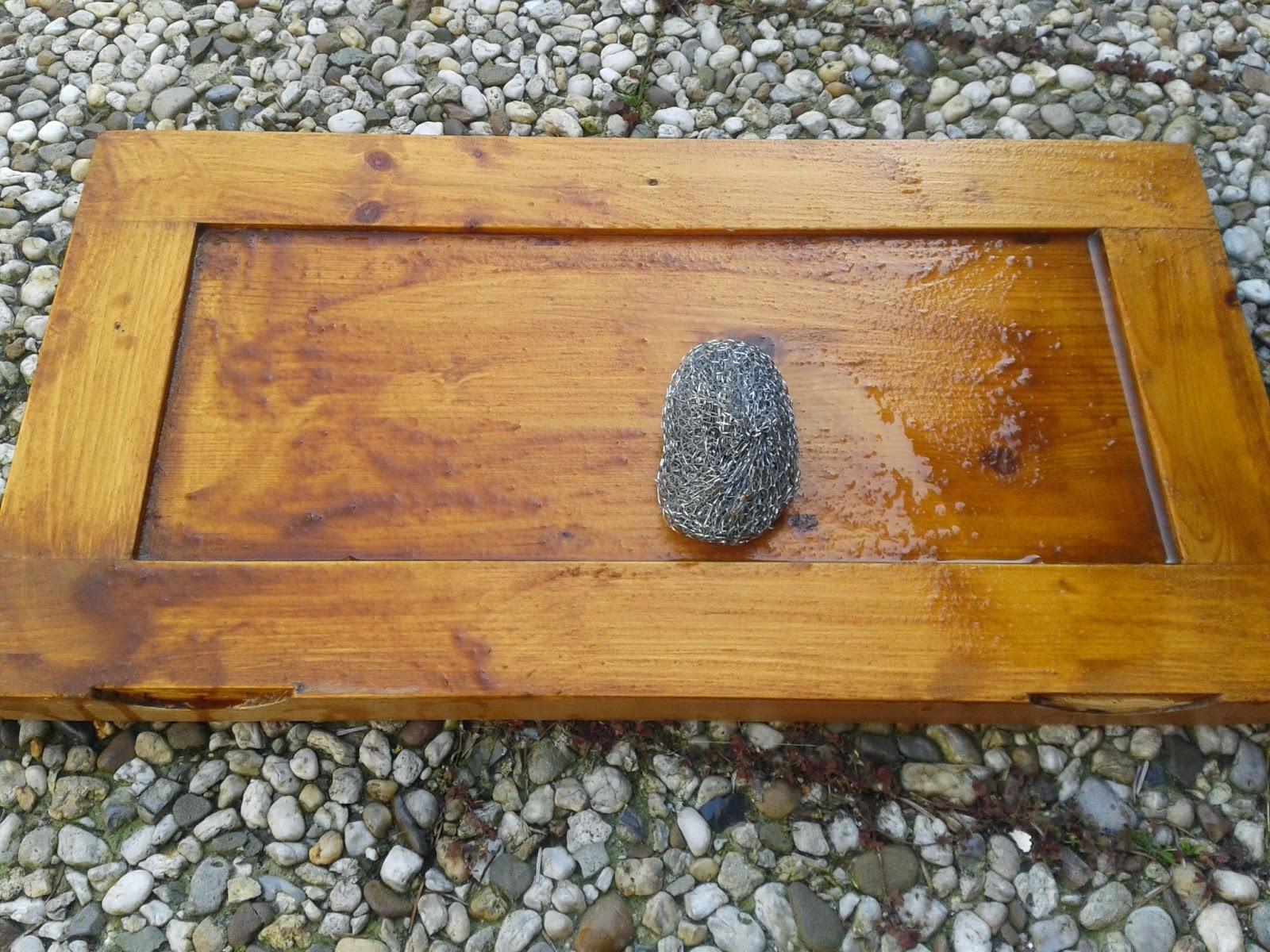Opgeknapte Meubels Waslaag Van Meubel Verwijderen