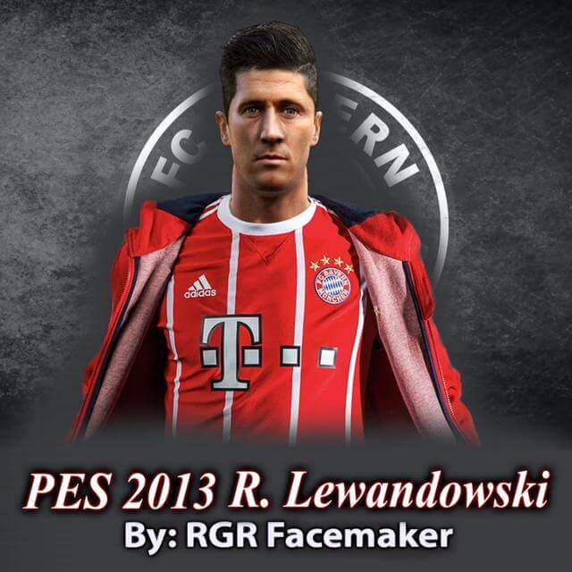 Robert Lewandowski Face PES 2013