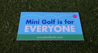 A Mini Golf is for EVERYONE bumper sticker designed by Tom and Robin at A Couple of Putts