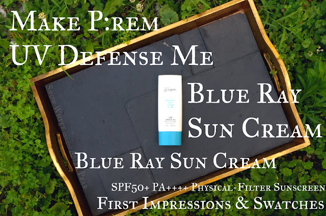 Make P:rem Blue Ray Sun Cream physical filter sunscreen