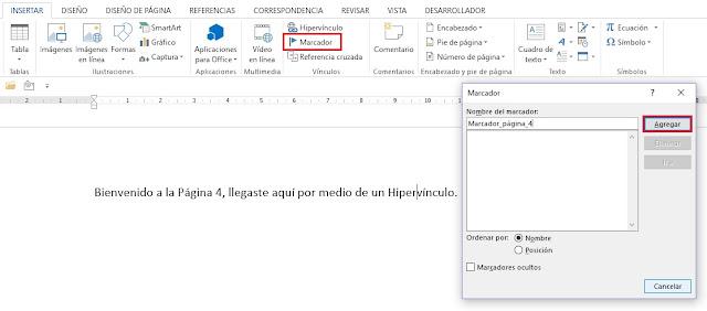 Como usar marcadores en Microsoft Word