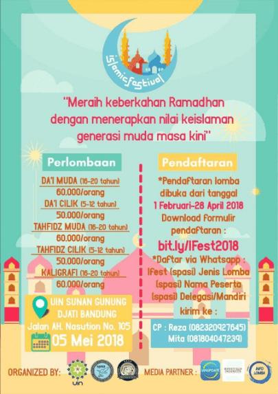 Event Lomba Islamic Festival Tingkat Jawa Barat 2018 UIN Bandung